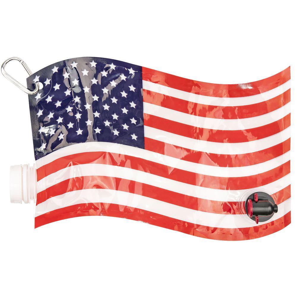 American Flag Wine Dispenser Flask