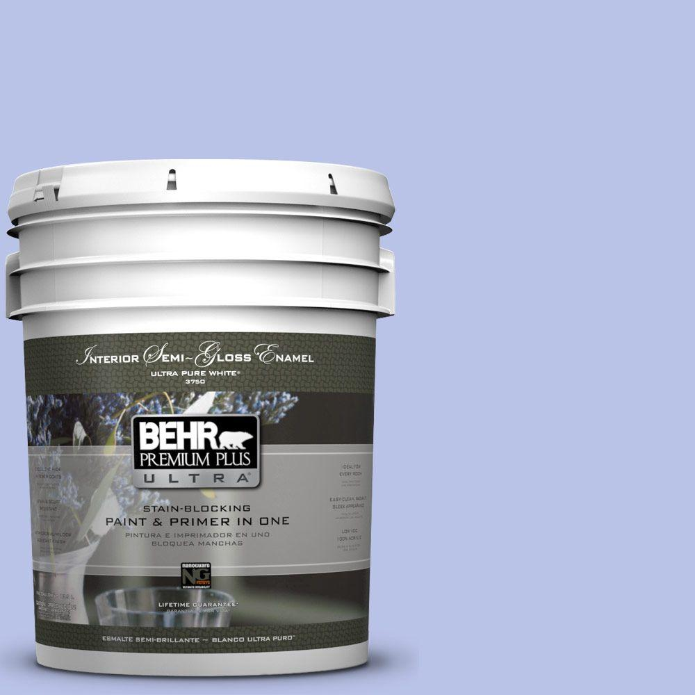 BEHR Premium Plus Ultra 5-gal. #P540-3 Canterbury Bells Semi-Gloss Enamel Interior Paint