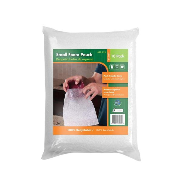 8 in. x 10 in. Small Foam Pouches (10-Pack)