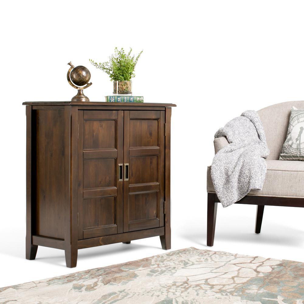 Simpli Home Burlington Espresso Brown Storage Cabinet