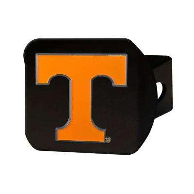 NCAA University of Tennessee Color Emblem on Black Hitch Cover