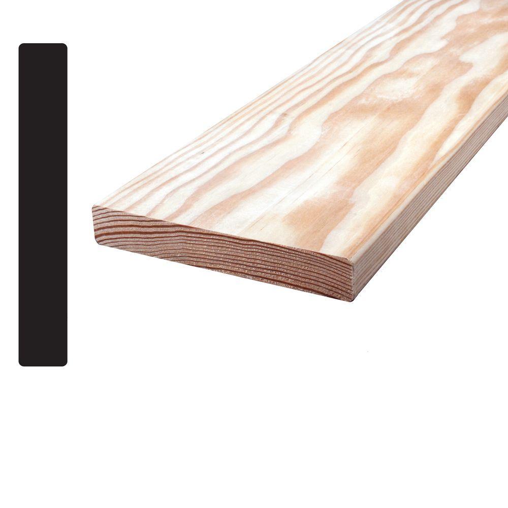 Douglas Fir S4SE4E 1 in. x 5 in. x 96 in. Mixed Grain Board