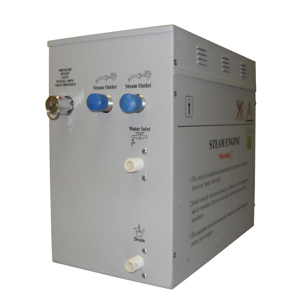 Superior 12kW Self-Draining Steam Bath Generator with Waterproof Programmable