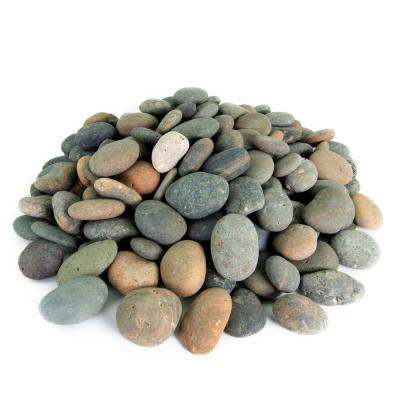 1.0 cu. ft. 1 in. to 2 in. Mixed Mexican Beach Pebble Smooth Round Rock for Gardens, Landscapes and Ponds