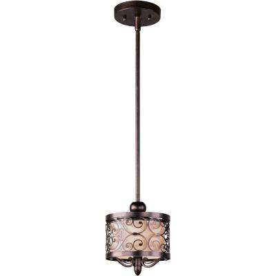 Mondrian 1-Light Umber Bronze Mini Pendant