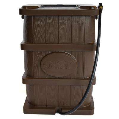 45 Gal. Woodgrain Rain Barrel in Brown