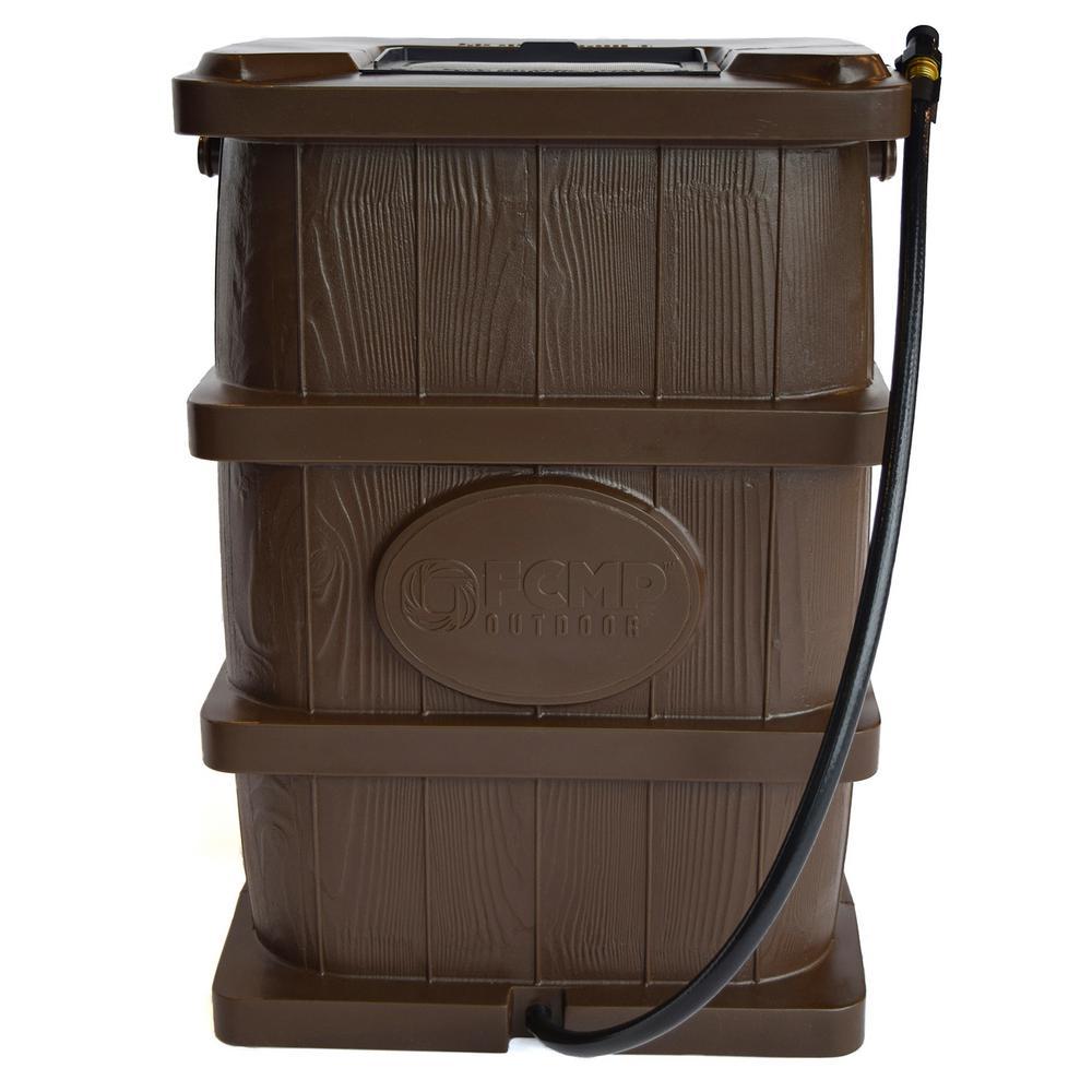 45 Gal. Woodgrain Rain Barrel in Brown