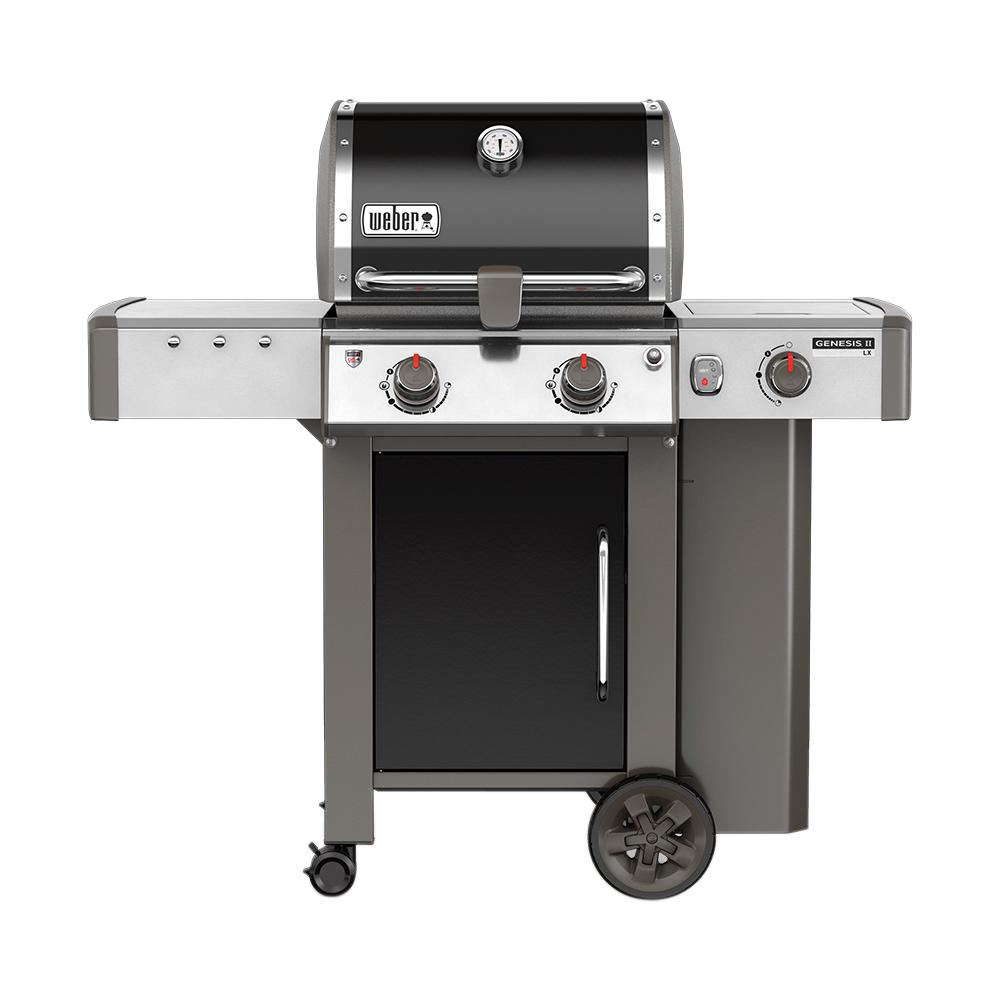 Weber Genesis II LX E-240 2-Burner Propane Gas Grill in Black with Built-In Thermometer and Grill Light