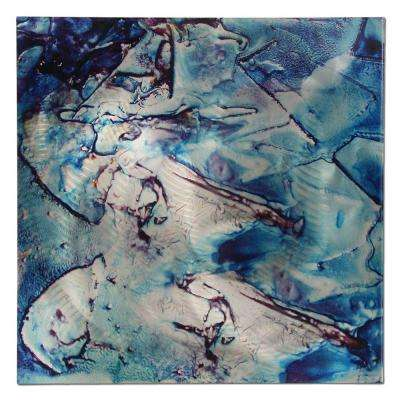 Brevium 22 in. x 22 in. Cool Jazz Metal Wall Art