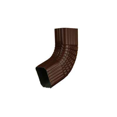 2 in. x 3 in. Royal Brown Aluminum Downspout B Elbow