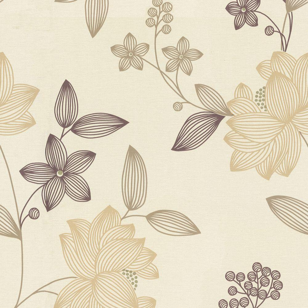 The Wallpaper Company 56 sq. ft. Limani Floral Wallpaper