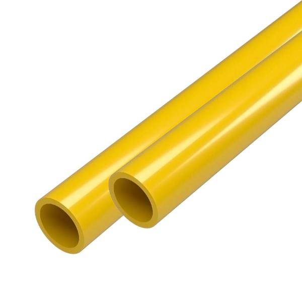 1/2 in. x 5 ft. Furniture Grade Schedule 40 PVC Pipe in Yellow (2-Pack)