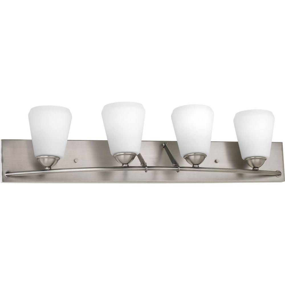 Progress Lighting Moments Collection 4-Light Antique Nickel Bath Light