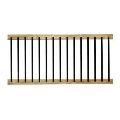 6 ft. Pressure-Treated Aluminum Solid Lightning Rail Deck Railing Kit