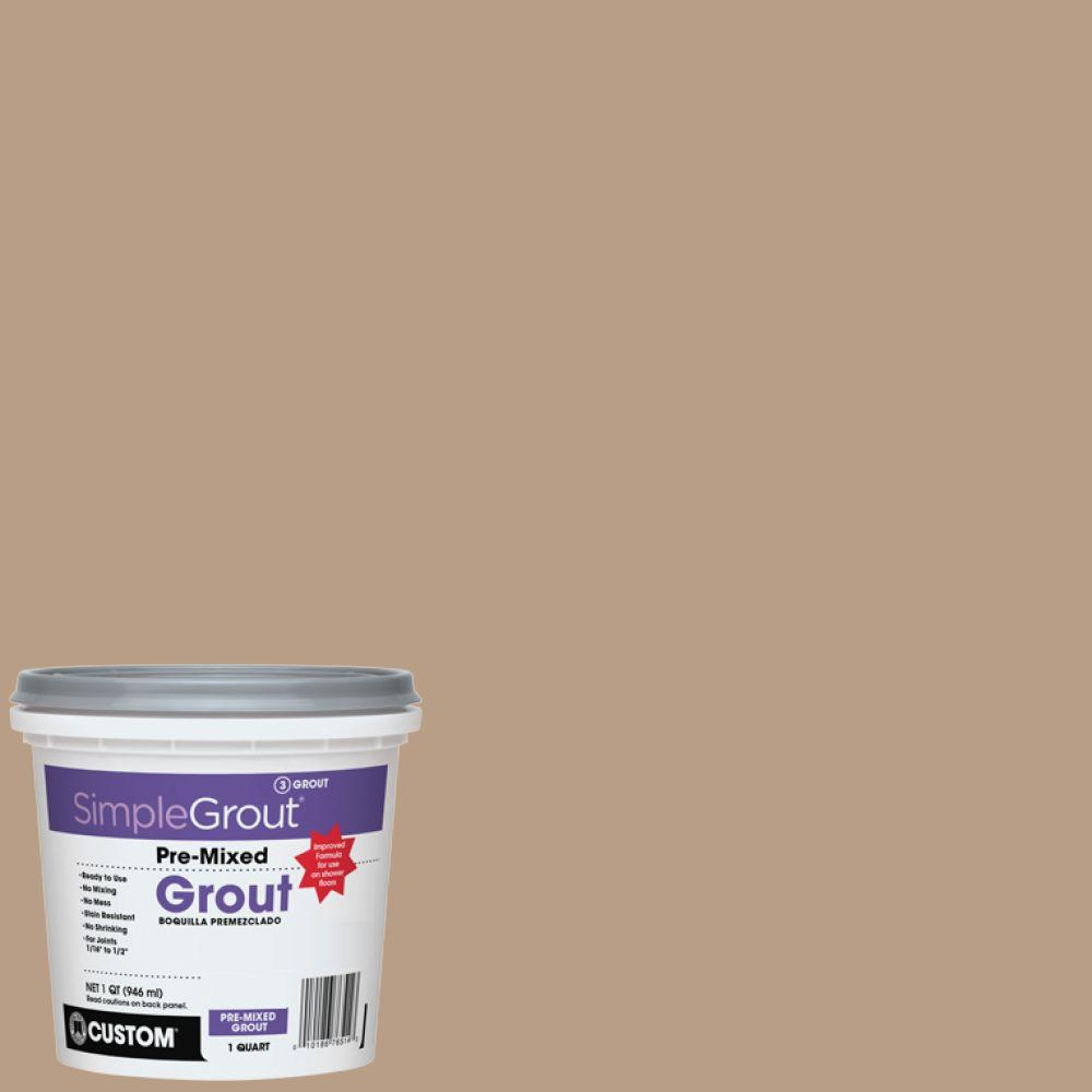Custom Building Products SimpleGrout #380 Haystack 1 Qt. Pre-Mixed Grout