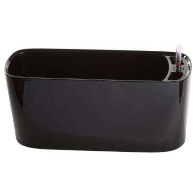 Modena Windowsill Gloss Black Plastic Planter and Herb Garden