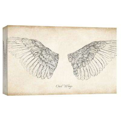 10 in. x 12 in. ''Owl Wings'' Printed Canvas Wall Art