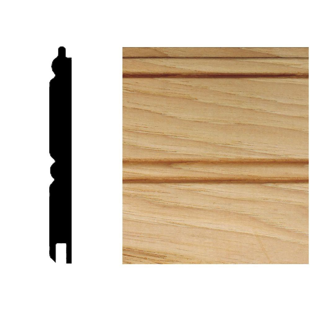 null 5/16 in. x 3-1/8 in x 8 ft. Hickory T&G Wainscot Panel (6-Pieces)-DISCONTINUED
