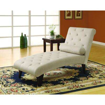 Taupe Velvet Chaise Lounge