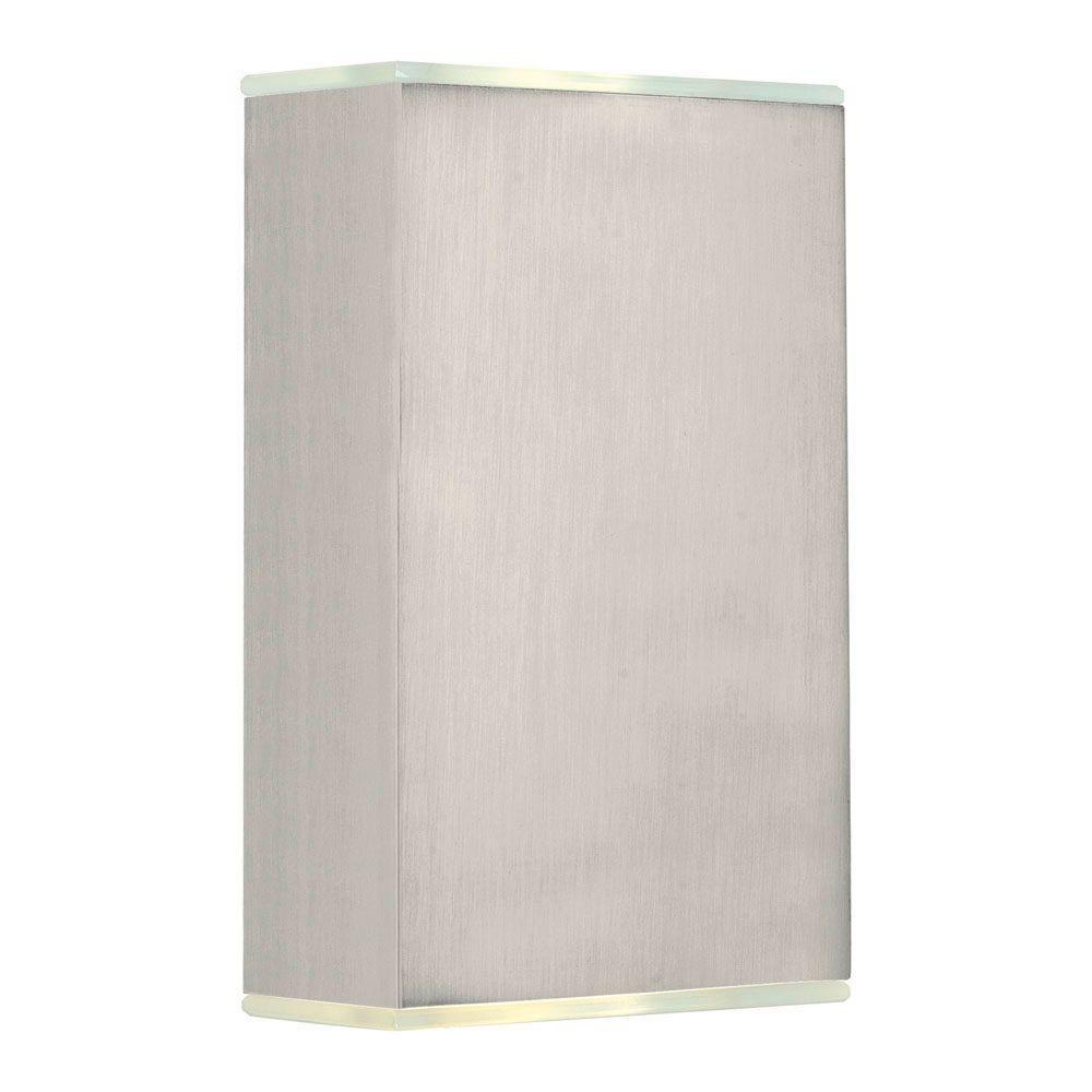 Abida 2-Light Brushed Nickel Wall Light