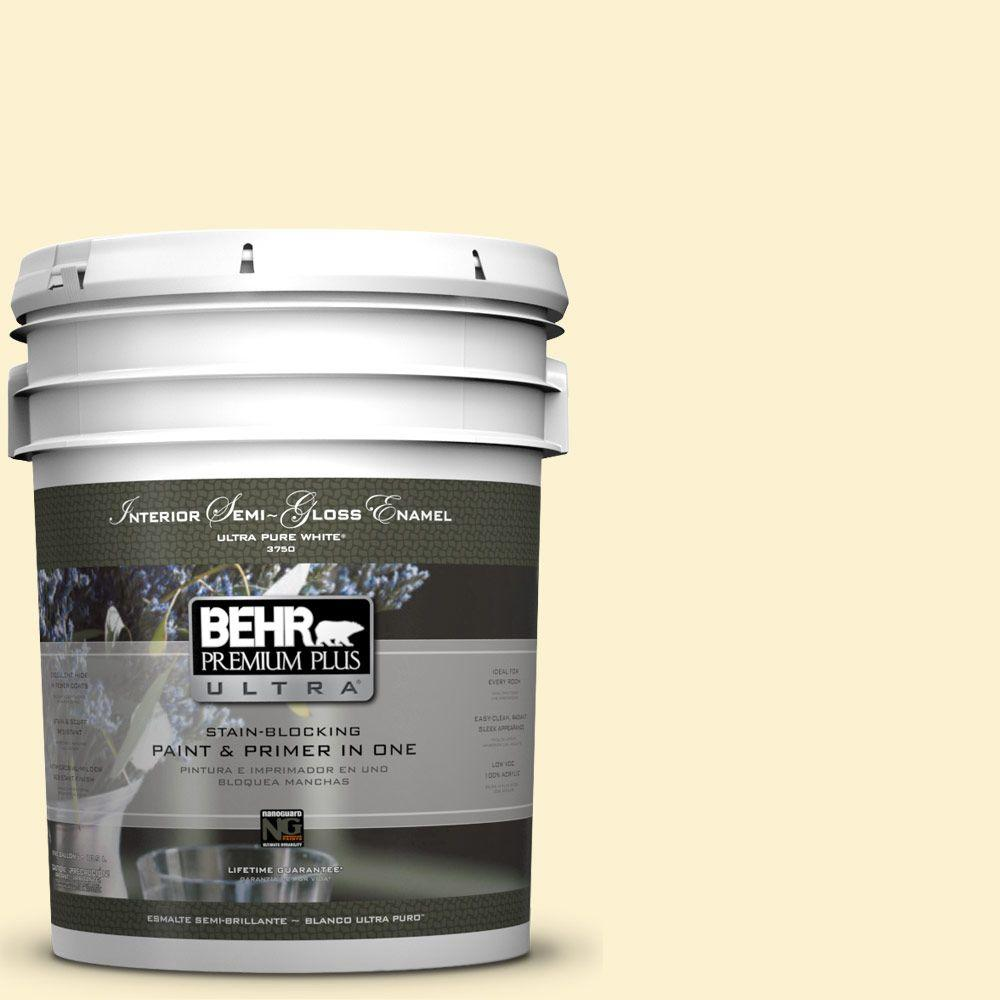 BEHR Premium Plus Ultra 5-gal. #P280-1 Summer Bliss Semi-Gloss Enamel Interior Paint