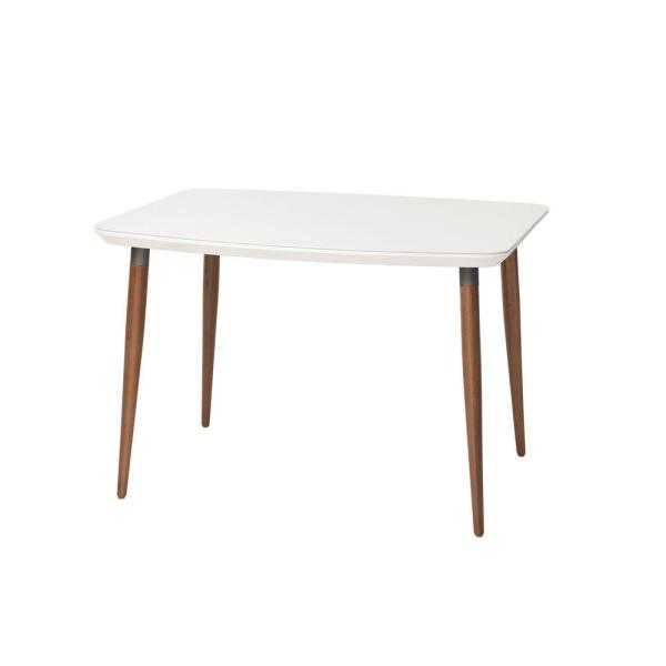 Manhattan Comfort Charles 62.99 in. White Gloss Dining Table 1012751