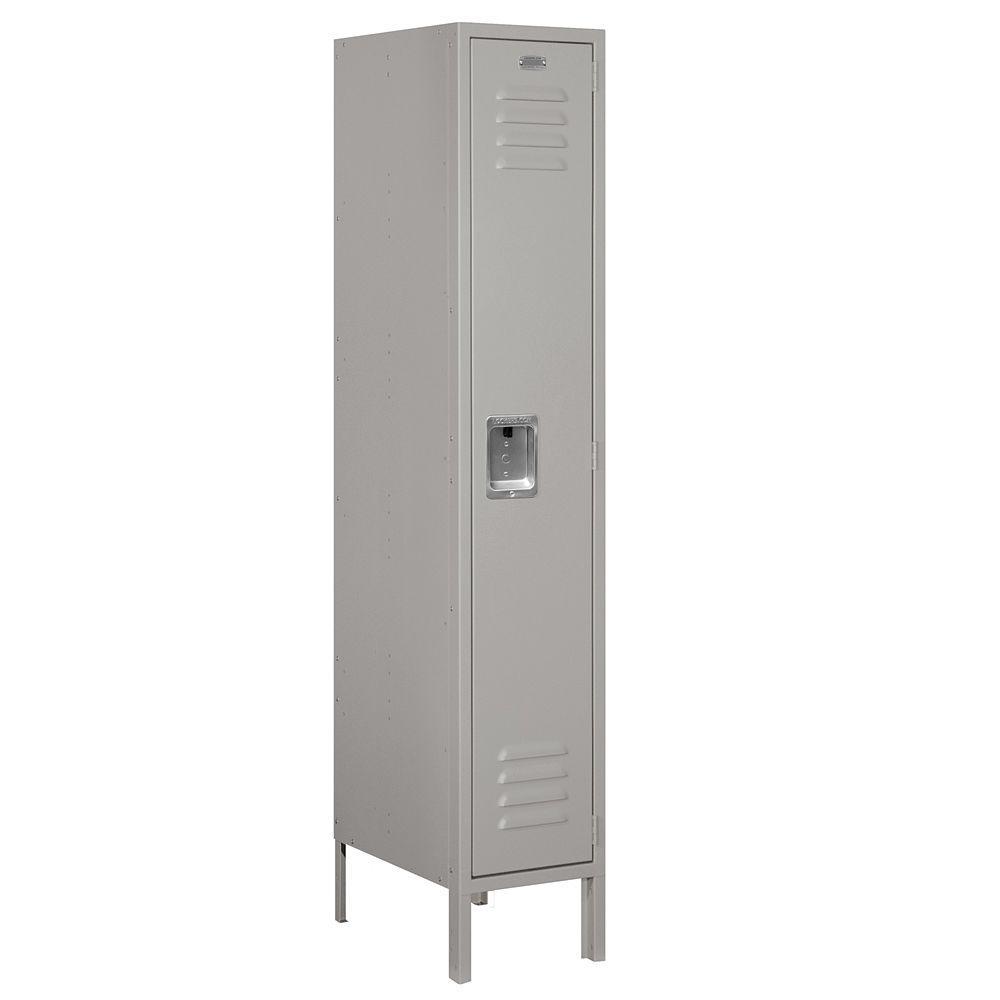 Salsbury Industries 61000 Series 12 in. W x 66 in. H x 18 in. D Single Tier Metal Locker Assembled in Gray