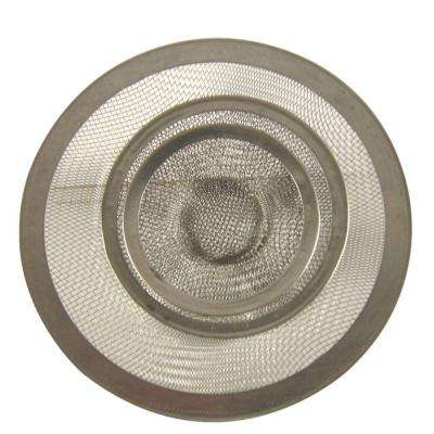 Mesh Kitchen Sink Strainer in Stainless Steel-Value Pack