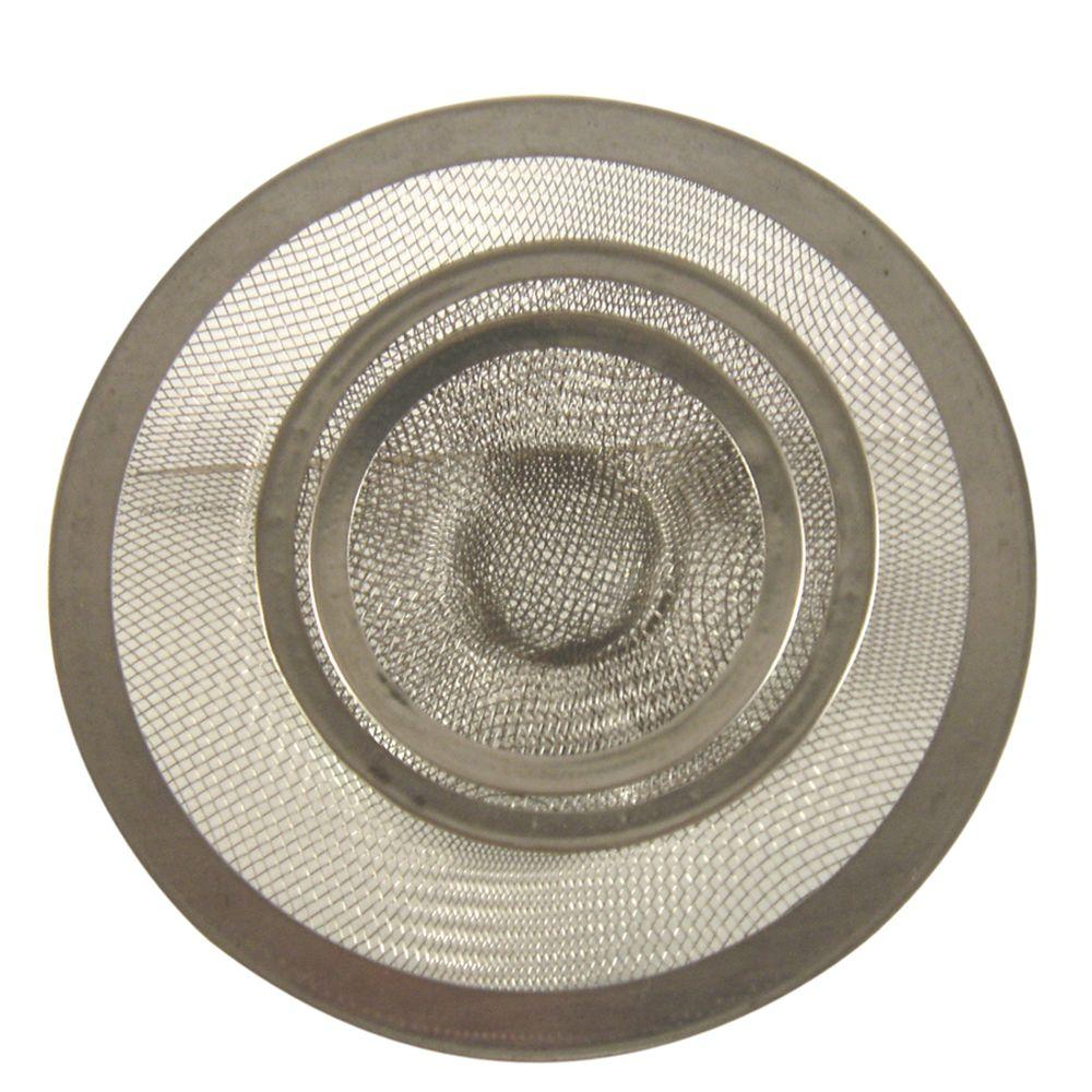 DANCO Mesh Kitchen Sink Strainer in Stainless Steel-Value Pack