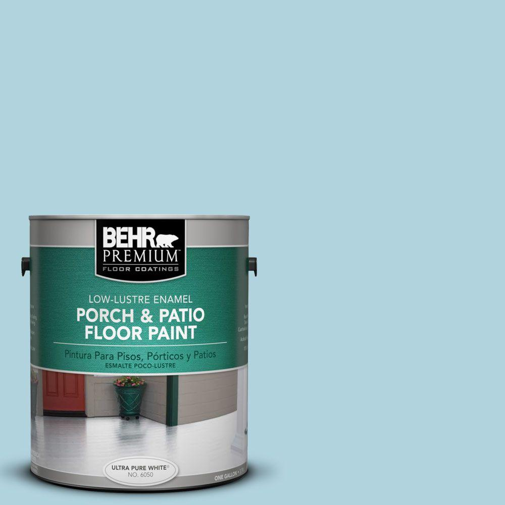 1 gal. #PFC-56 Pools of Blue Low-Luster Interior/Exterior Porch and Patio