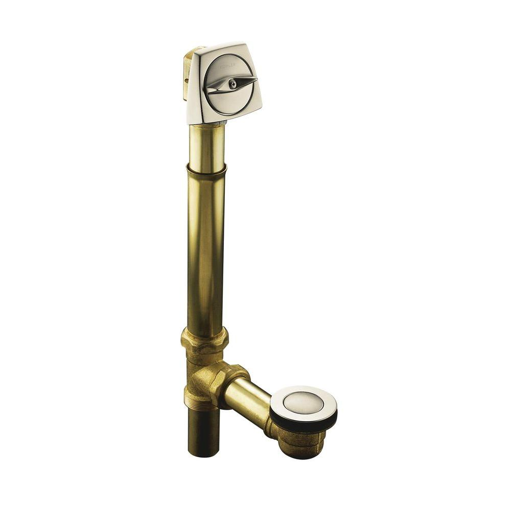 null Clearflo 1-1/2 in. Brass Adjustable Pop-up Drain in Vibrant Brushed Nickel