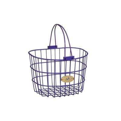Surfside Adult Wire D-Shape Basket in Purple