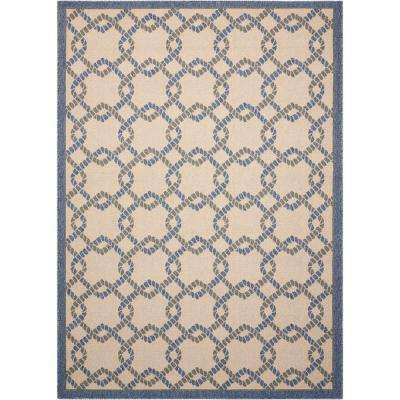 Caribbean Ivory Blue 9 Ft. 3 In. X 12 Ft. 9 In.