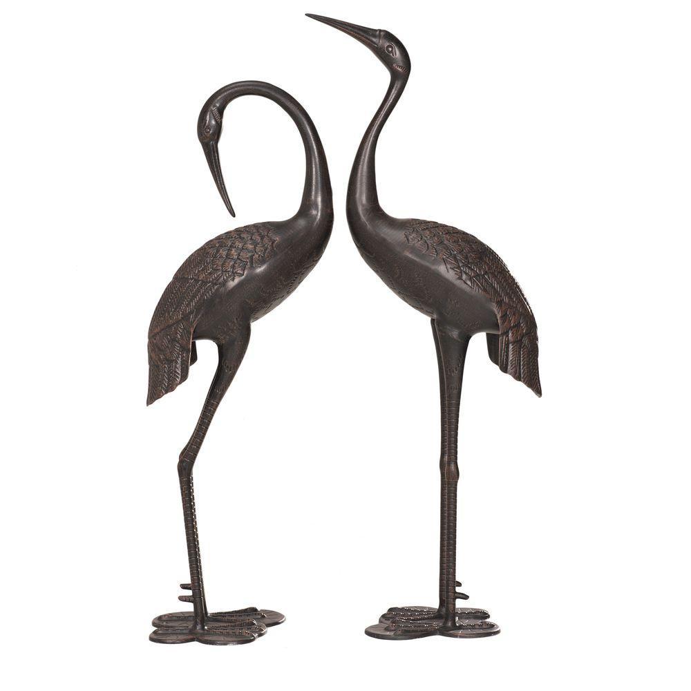 Attrayant Sunjoy Crane Set Garden Statues
