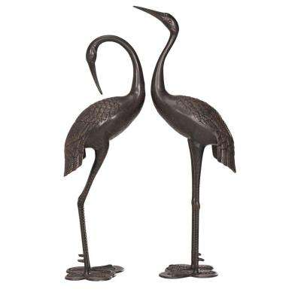 Crane Set Garden Statues