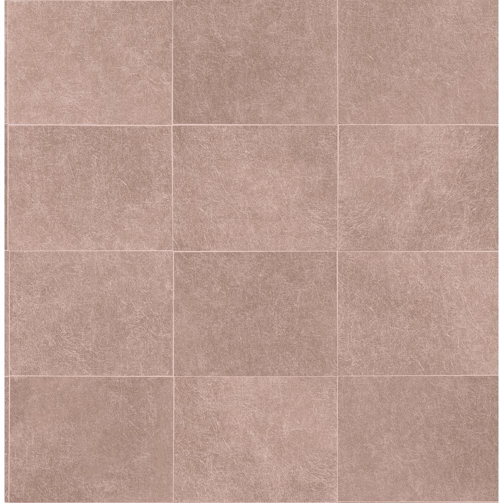 Cecelia Rose Gold Geometric Wallpaper Sample