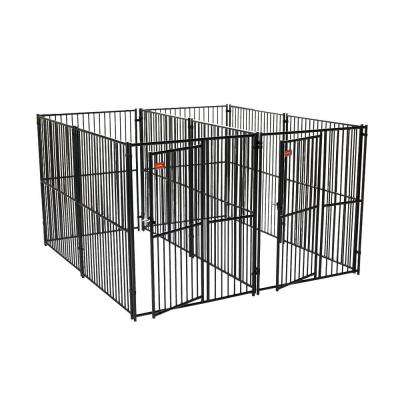 Lucky Dog 6 ft. H x 5 ft. W x 10 ft. L European Style 2 Run Kennel with Common Wall