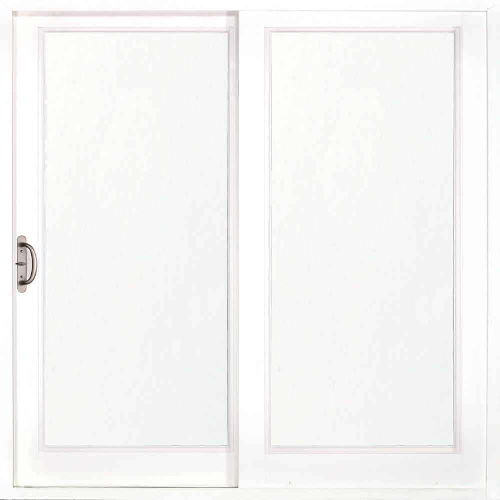 MP Doors 72 in. x 80 in. Woodgrain Interior and Smooth White Exterior Left-Hand Composite Sliding Patio Door