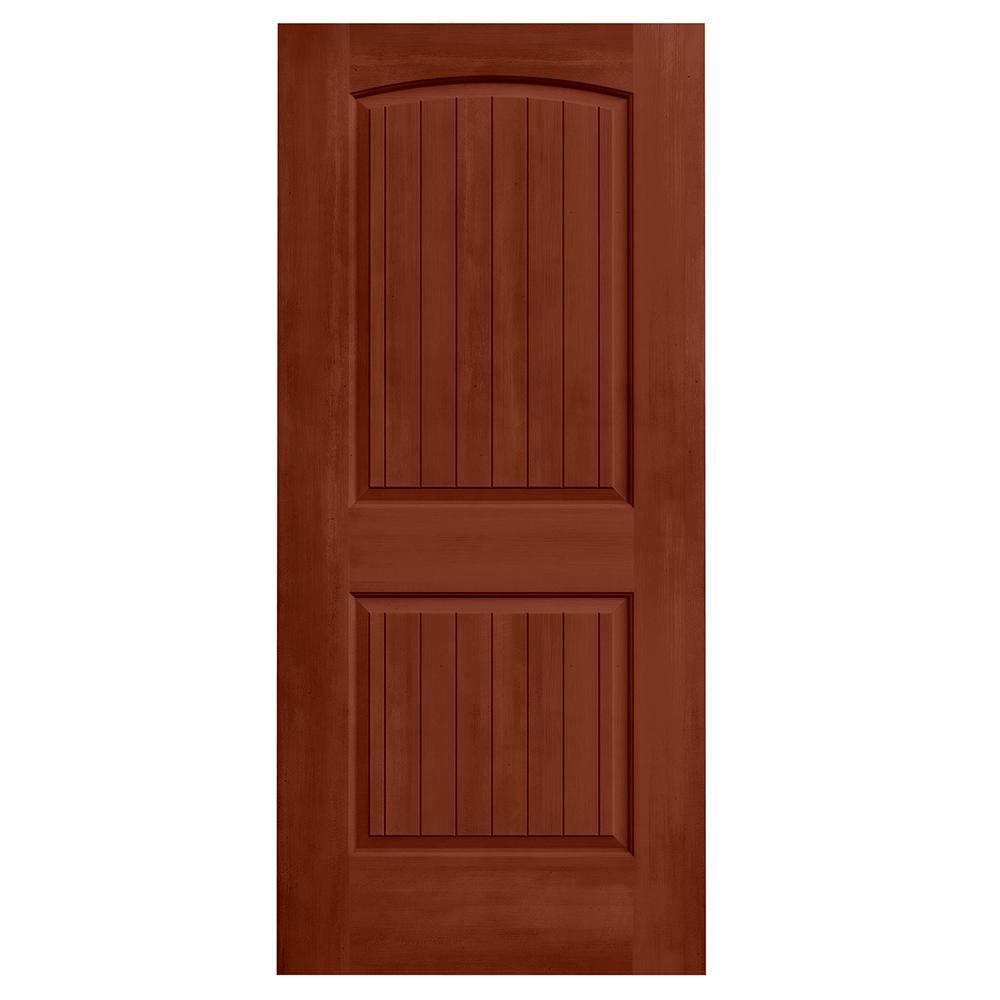 36 in. x 80 in. Santa Fe Amaretto Stain Solid Core Molded Composite MDF Interior Door Slab