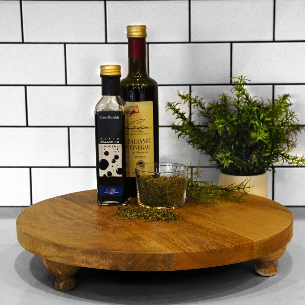 Artisan Wood - Farmhouse Natural Decorative Footed Board
