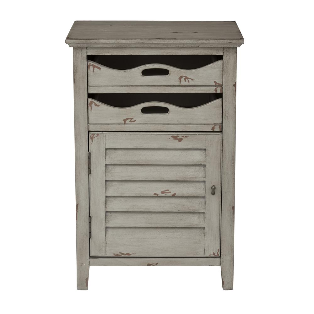 OSP Home Furnishings Charlotte Gray Chair Side Table, Gray Wood Finish OSP Home Furnishings Charlotte Gray Chair Side Table, Gray Wood Finish
