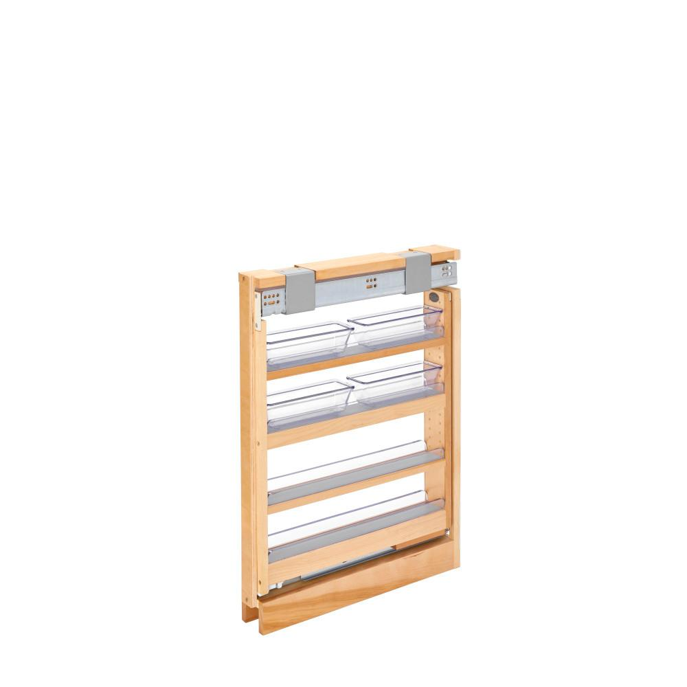 Rev-A-Shelf 3 in. Vanity Filler Pullout out Soft-Close, Unfinished Wood Rev-A-Shelf 3 in. Vanity Filler Pullout out Soft-Close, Unfinished Wood