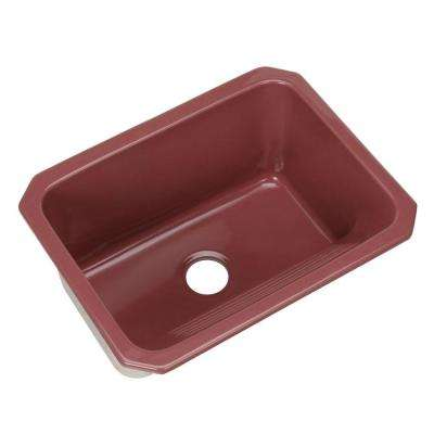 Kensington Undermount Acrylic 25 in. Single Bowl Utility Sink Raspberry Puree
