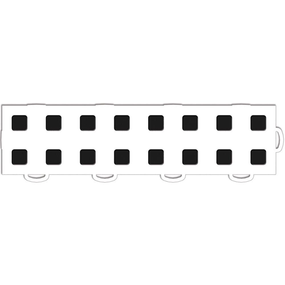 WeatherTech TechFloor 3 in. x 12 in. White/Black Vinyl Flooring Tiles (Right Loop) (Quantity of 10)