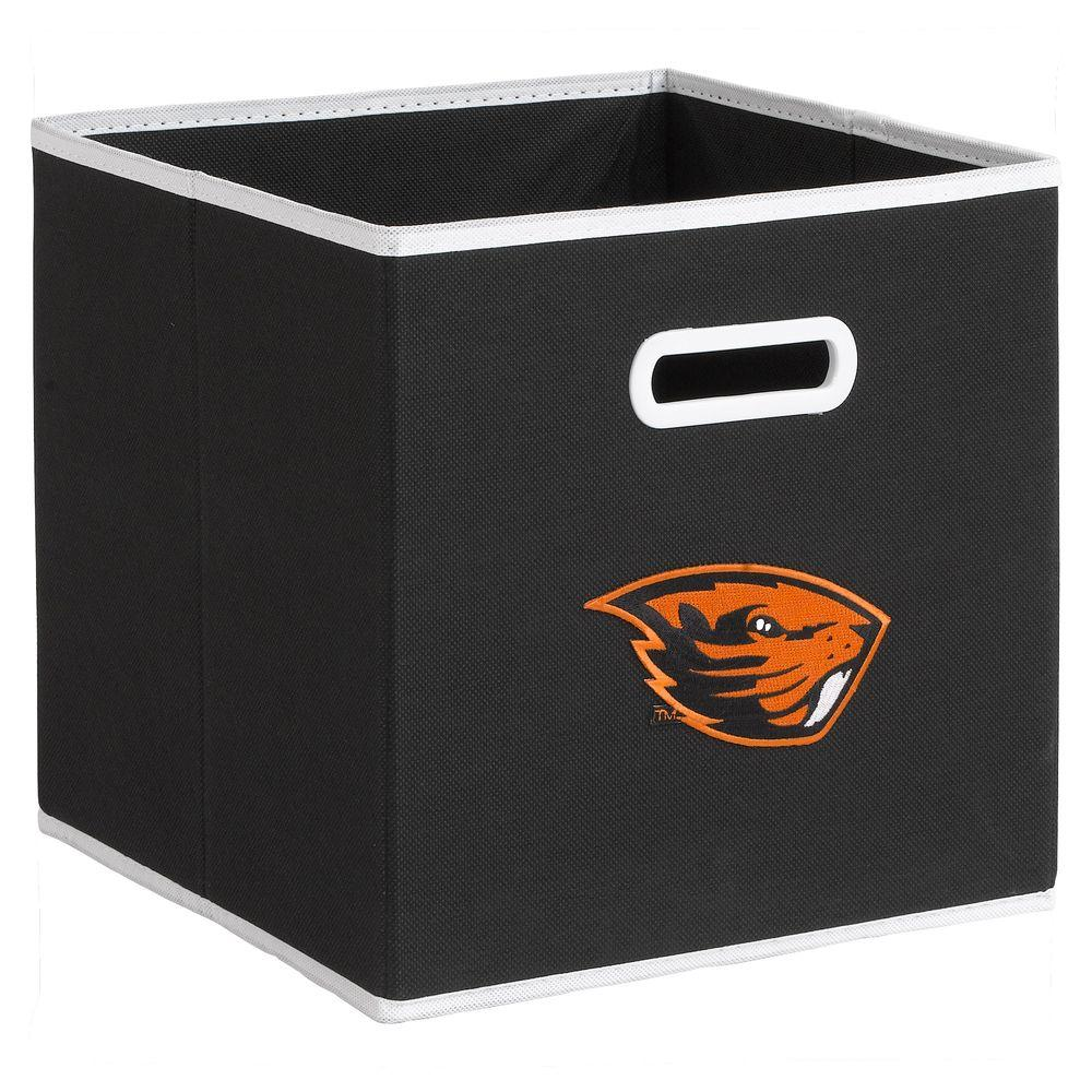 null College STOREITS Oregon State University 10-1/2 in. W x 10-1/2 in. H x 11 in. D Black Fabric Storage Bin
