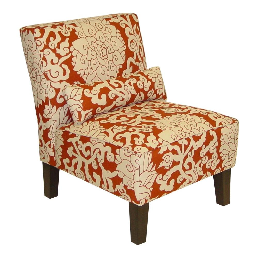 Home Decorators Collection Anita Cinnabar Slipper Chair