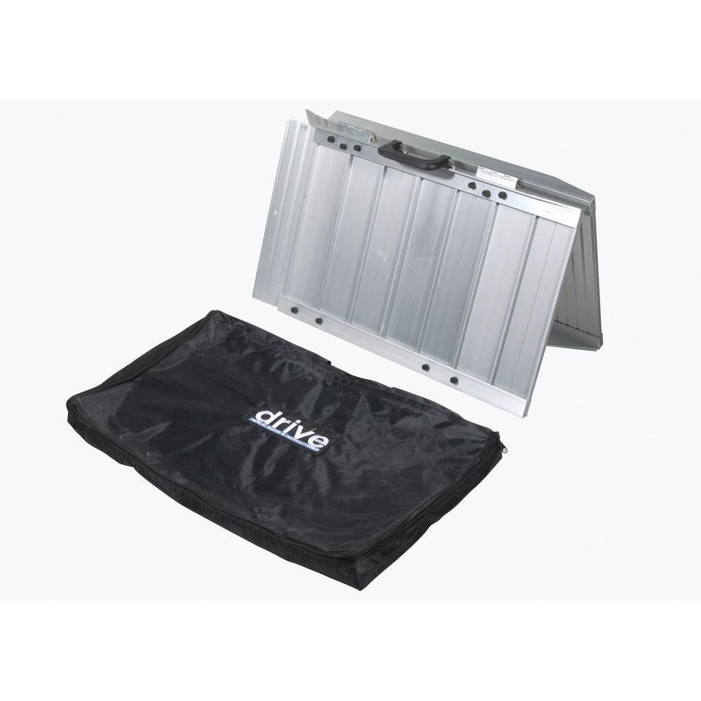 Drive 5 ft. x 28.5 in. Single Fold Portable Wheelchair Sc...