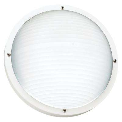 Bayside 1-Light White Outdoor Wall/Ceiling Fixture