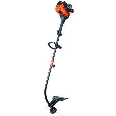 17 in. 25cc 2-Cycle Curved Shaft Attachment Capable Gas Trimmer