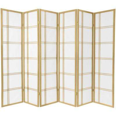 6 ft. Gold Double Cross 6-Panel Room Divider